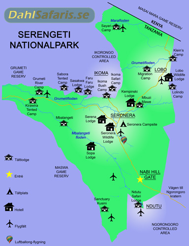 karta Serengeti map